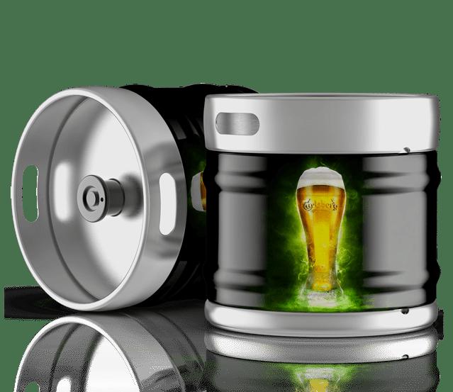Fûts de bière carlsberg à la vente sur Grenoble